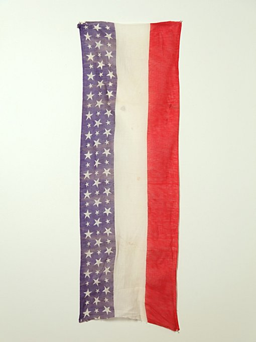Vintage WWI American Flag Banner in vintage-loves-objects