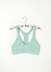 Fishnet Racer Back Bra in intimates-bras