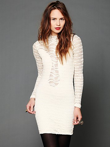 Lace Raglan Bodycon Dress