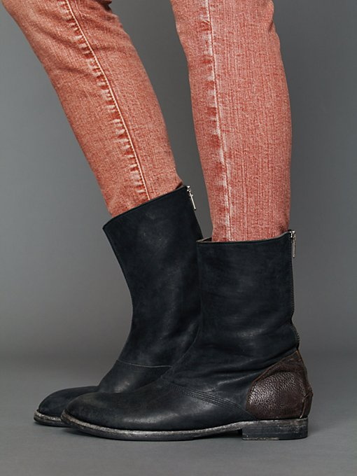 Hollywood Trading Company HTC Myth Back Zip Boot in Boots