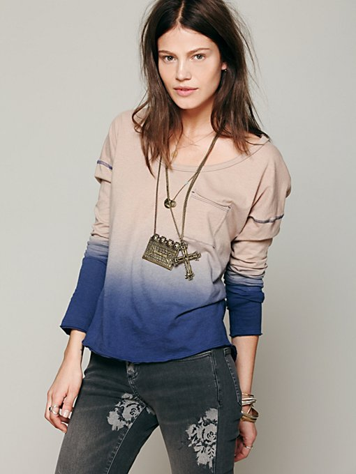 Free People We The Free Fun Dip Tee in Long-Sleeve-Tees