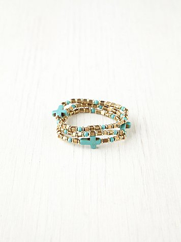 Dominga Turquoise Cross Bracelet Set