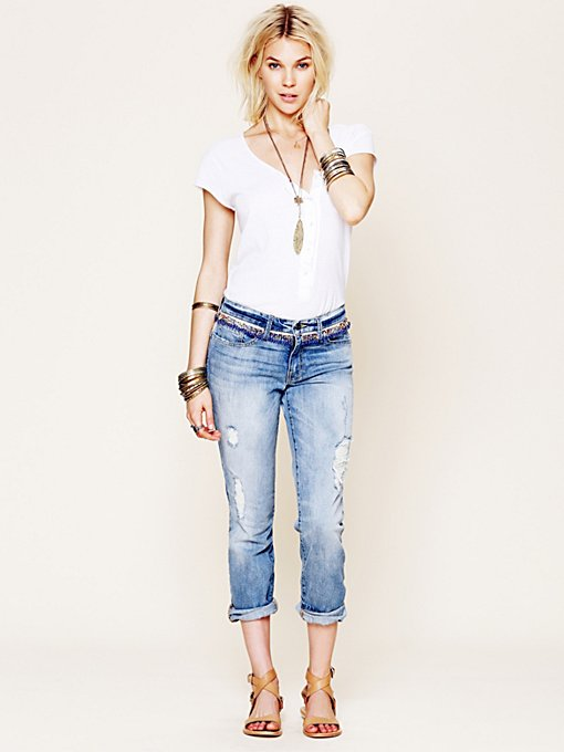 Artisan de Luxe Vermejo Embellished Boyfriend Jean in Colored-Jeans