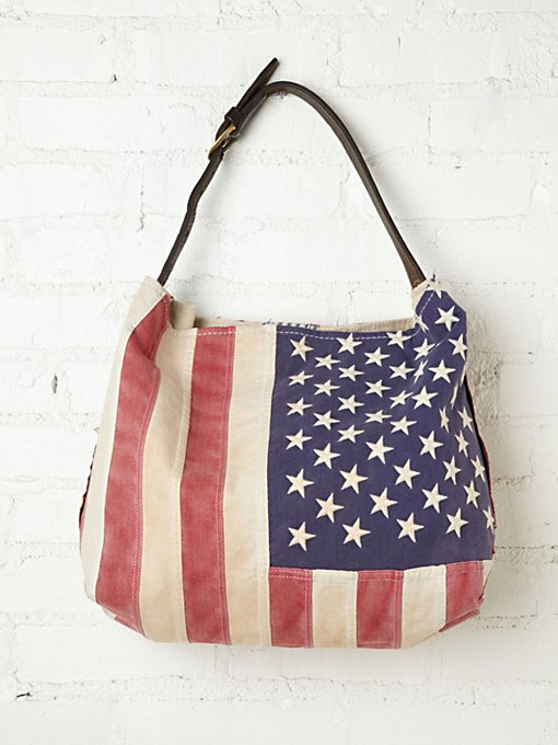 Treasured Flag Tote in Take-Me-Away