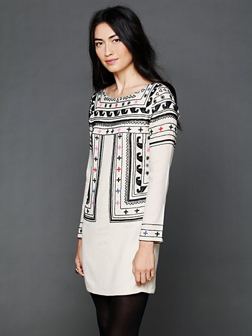 Beaded Wool Dress in sale-sale-dresses