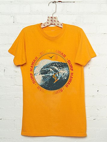 Free People Vintage Surf Hawaii 1970 Graphic Tee