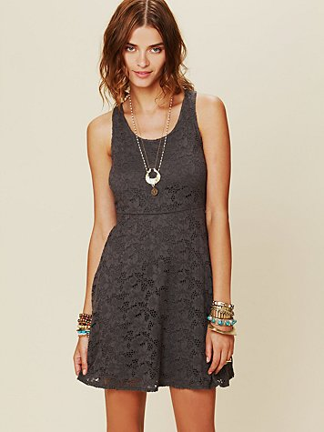 Free People Kristal's Lace Fit and Flare Dress