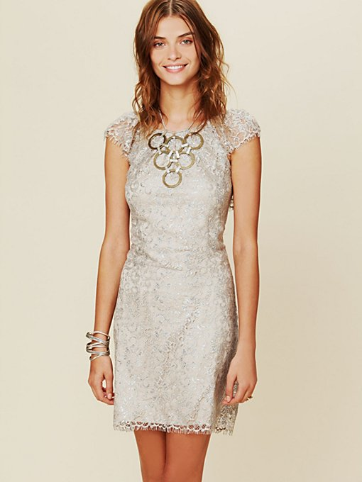 Shimmer Lace Bodycon Dress