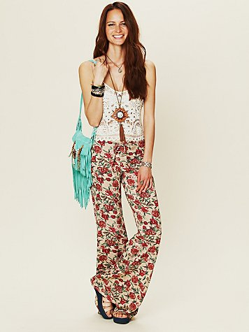 Novella Royale Floral Drawstring Bell Bottoms