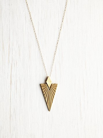 Nikki Montoya Druid Triangle Necklace