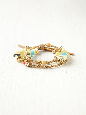 Free People Triangle Bead Bracelet