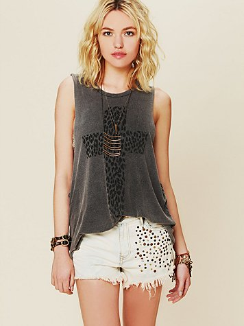 Leopard Cross Tank