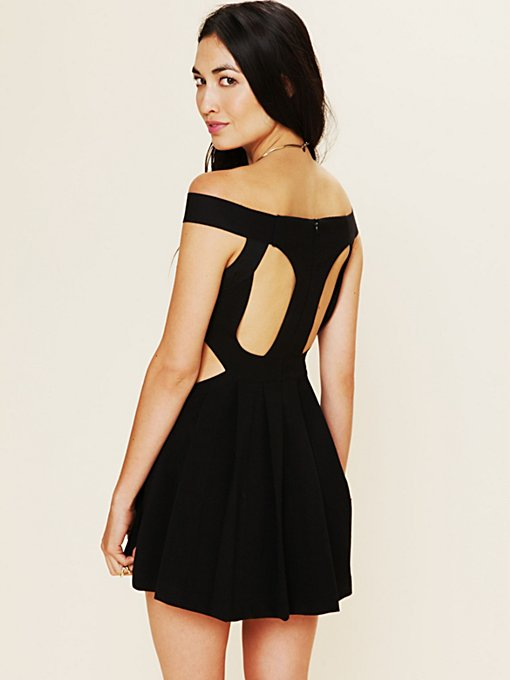 Sibling Bandeau Skater Dress in clothes-dresses