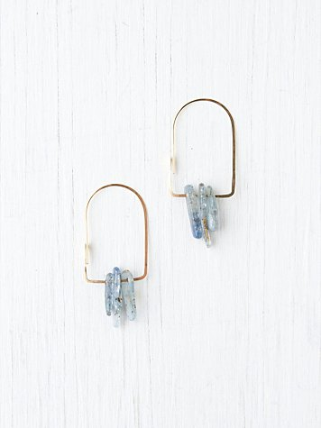 Kris Nations Quartz Dagger Oval Hoops