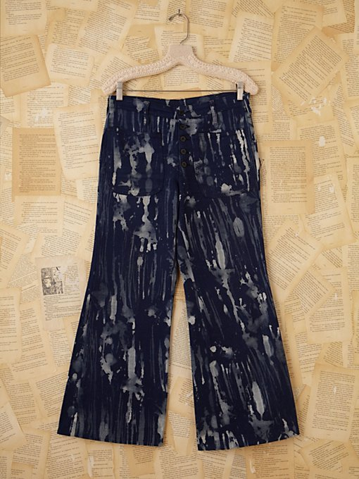 Free People Vintage Acid Wash Wideleg Jeans  in vintage-jeans
