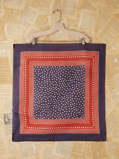 Free People Vintage Patriotic Dotted Silk Scarf in Vintage-Accessories