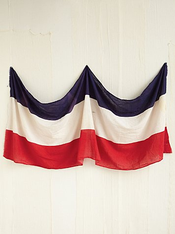 Free People Vintage Red, White, and Blue Flag