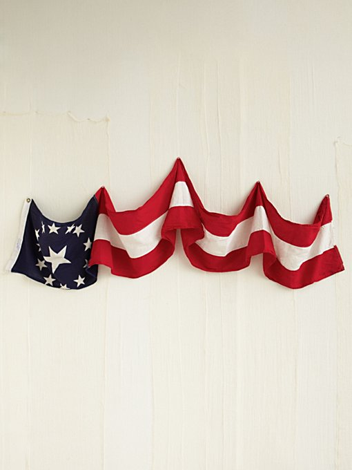 Vintage Red, White, and Blue Banner in vintage-loves-objects
