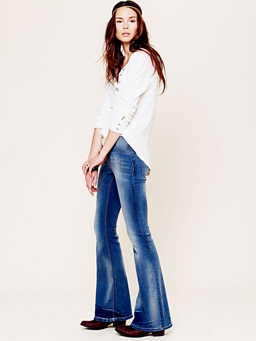 FP Pull On Kick Flare in denim