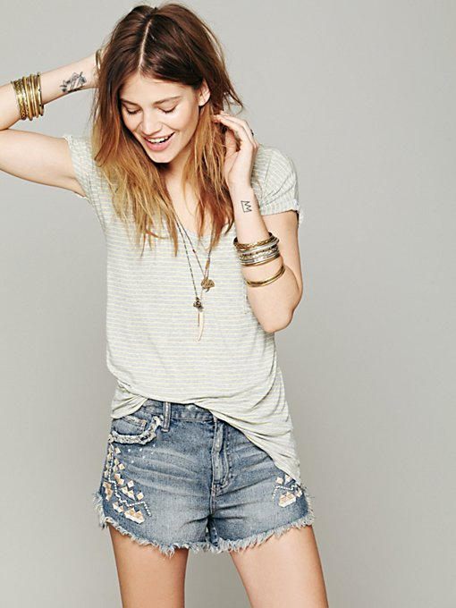 Free People We The Free Retro Stripe Tee in tops