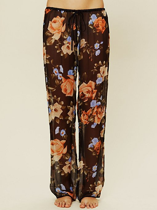Sheer Floral Bottoms
