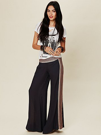 Free People Rumor Has It Border Print Pant