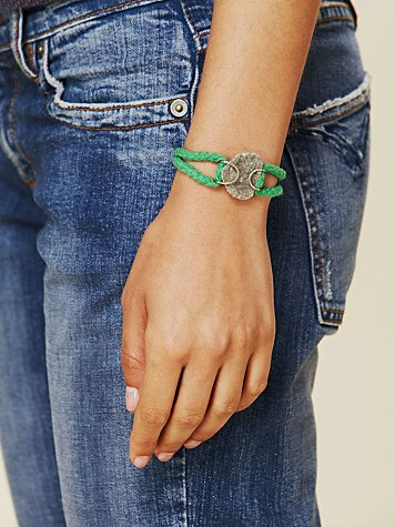 Kris Nations Rope and Druzy Bracelet