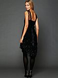 Noir Embellished Mesh Dress