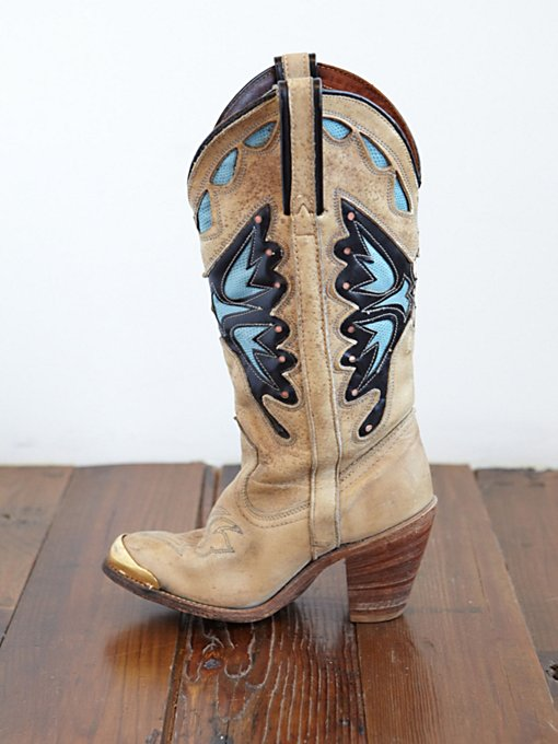 Free People Vintage Leather Cowboy Boots in vintage-shoes