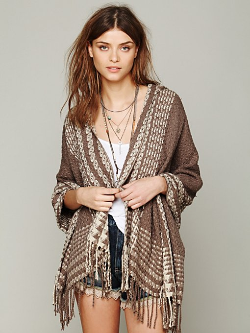 Hooded Poncho in accessories-scarves-ponchos
