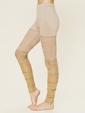 Free People Ruffled Lace Legging