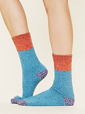 Colorblock Boot Sock