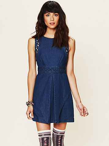 Free People FP New Romantics Denim Dress