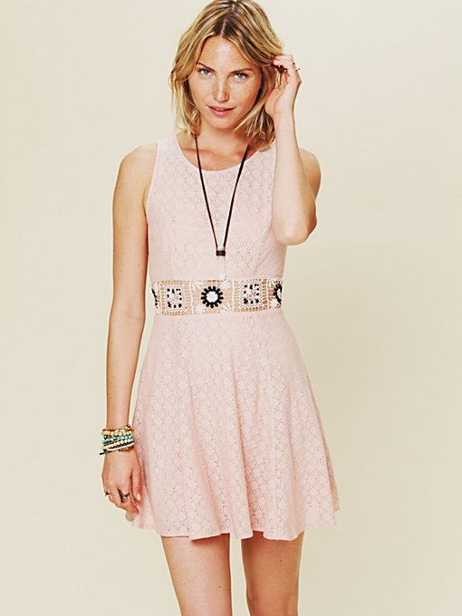 Free People Colorblock Daisy Fit and Flare Dress in party-dresses