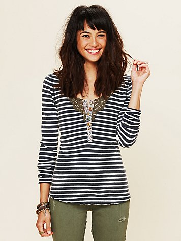 Free People We The Free Call Back Stripe Henley