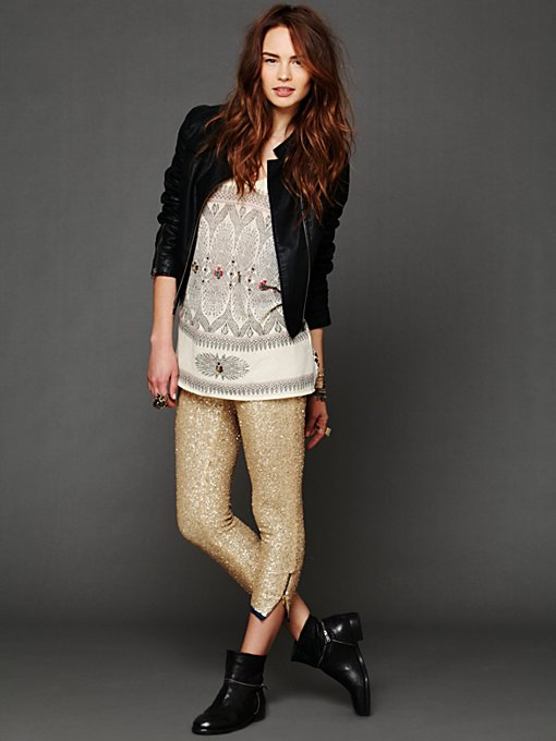 Sequin Cropped Pant