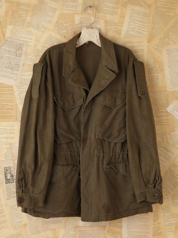 Vintage Oversized Army Jacket