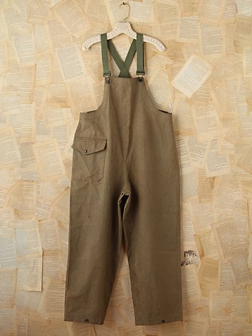 Free People Vintage Army Green Overalls