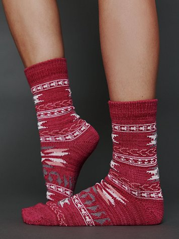 Free People Southwestern Boot Sock