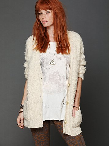 Free People Oversized Panda Cardi