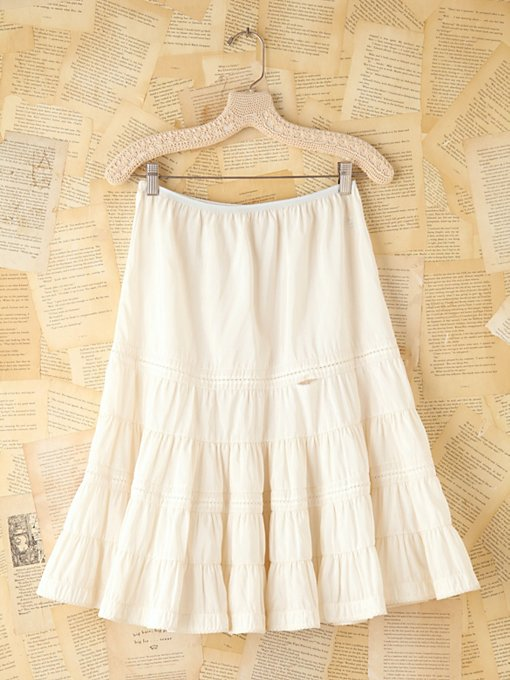 Free People Vintage Tiered Slip Skirt in vintage-skirts