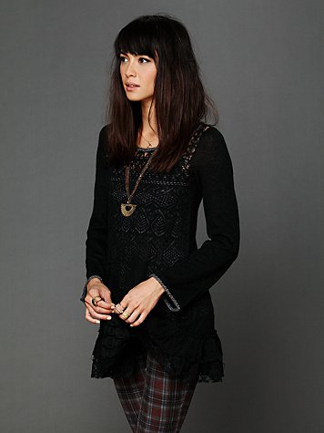 Free People Solid Sweater Tunic