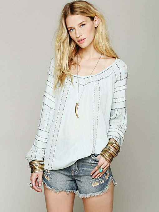 Free People Beaded Wavelengths Tunic in tops