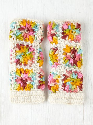 Crochet Fleece Armwarmer