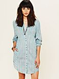 FP New Romantics Indigo Shades Shirt Dress