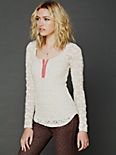 Candy Lace Layering Placket Top