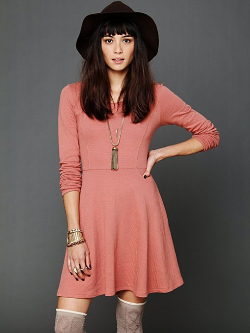 Free People Molly's Lace Up Fit N Flare in sweater-dresses