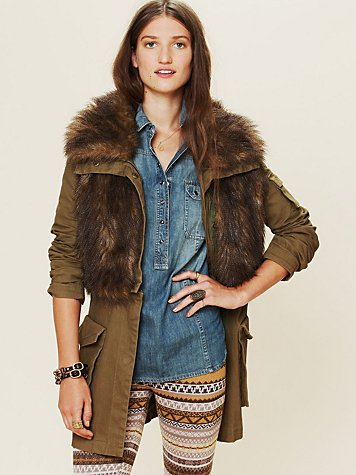 Three Floor Fur Parka