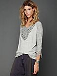 Crochet and Fringe Pullover