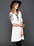 Garden Sleeve Embroidered Dress